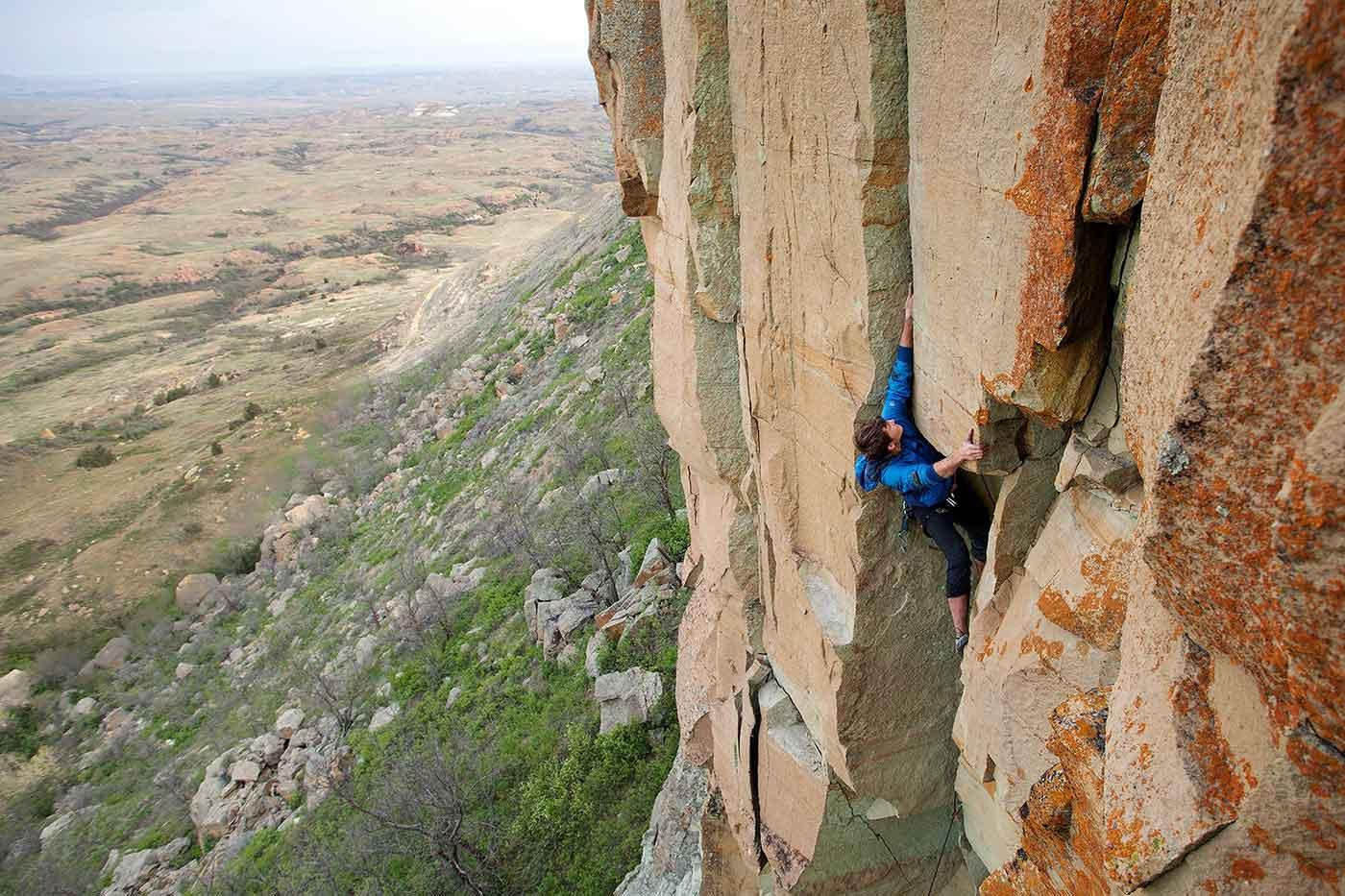 Rock Climbing North Dakota Great Plains Get Guide