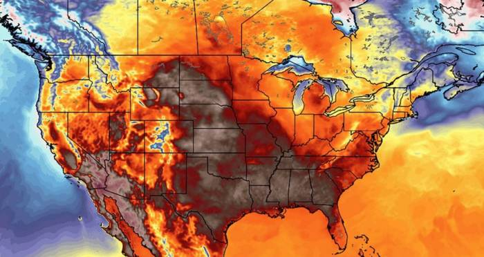 Is that a weather map, or is all of North America on fire?