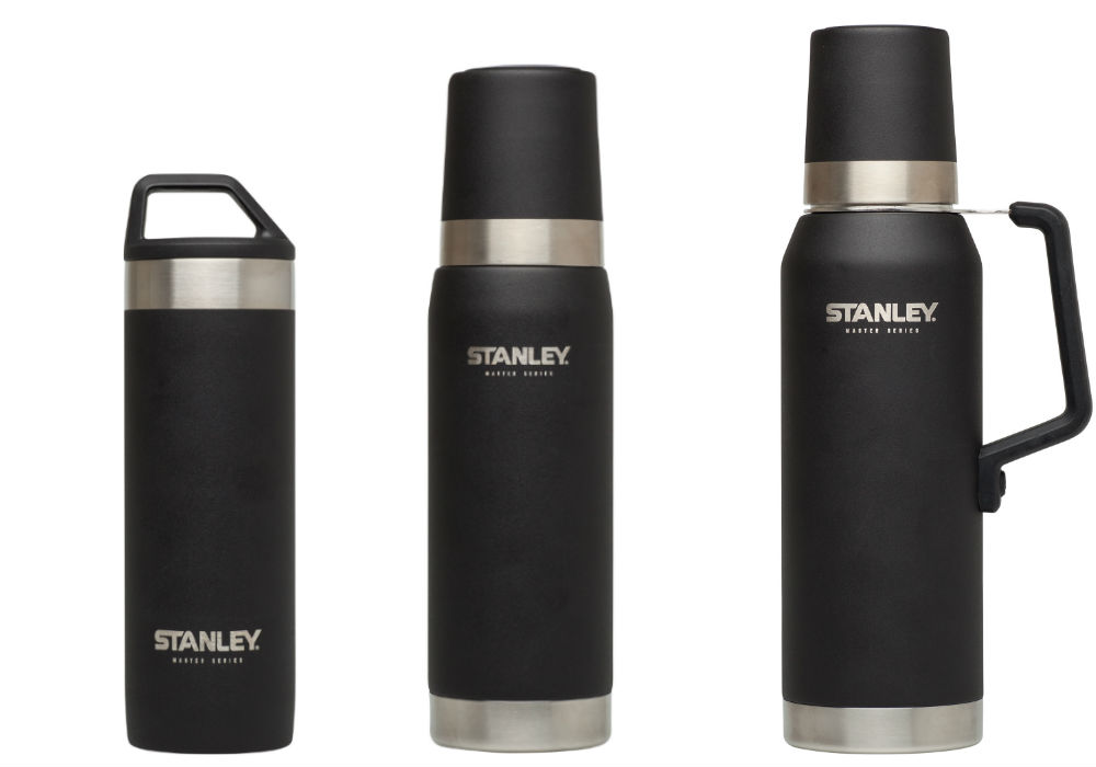 stanley master series vacuum insulated bottles and mugs