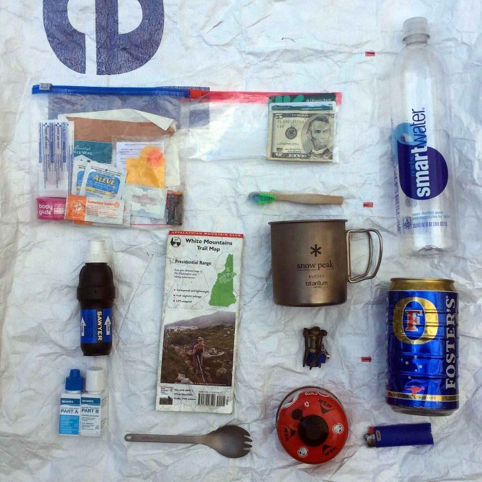The author's lightweight backpacking gear