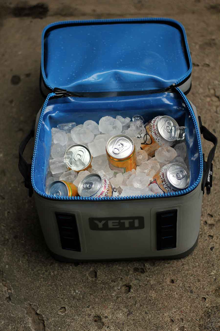 open cooler with beer
