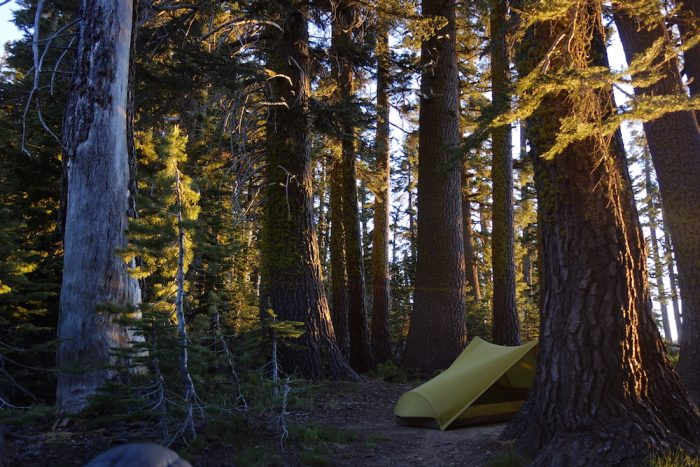 campsite on the PCT