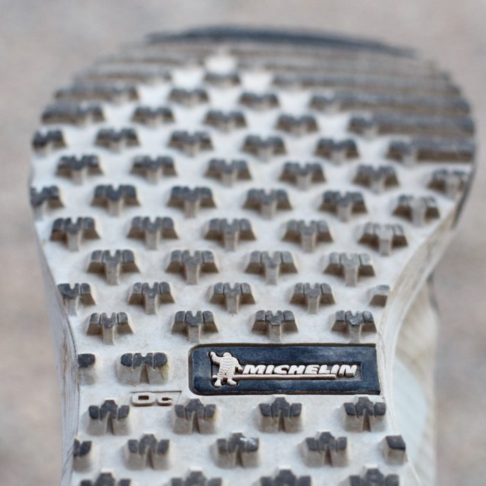 sole of trail running shoe