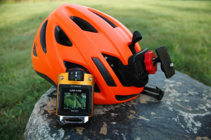 Ricoh WG-M2 Action Sports HD Camera with Helmet Mount