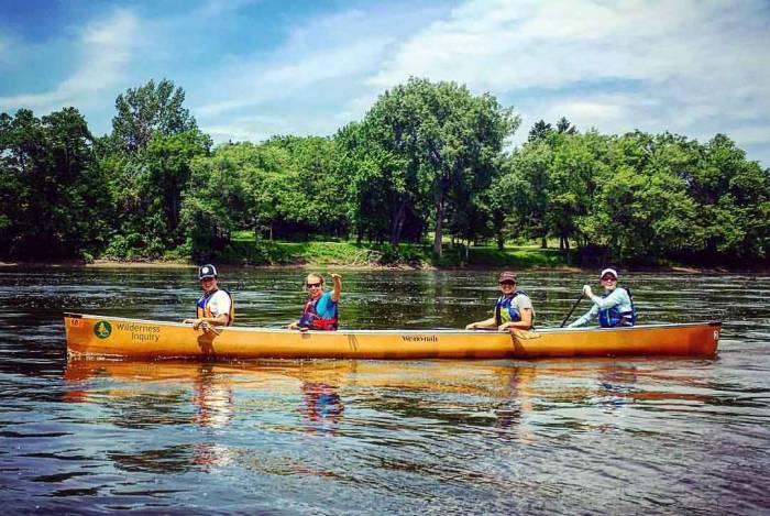 Ann Raiho canoeing