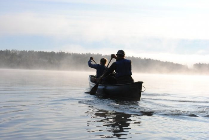 Raiho began her canoeing career as a trail guide at Camp Menogyn in Grand Marais, Minn.