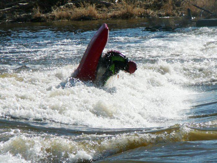 manchester iowa kayak flip