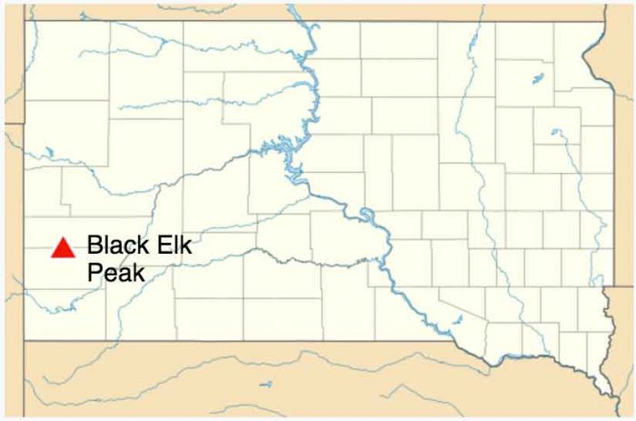 map black elk peak