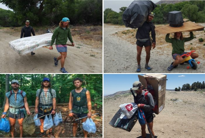 Scenes from 'packing it out' trail cleanups