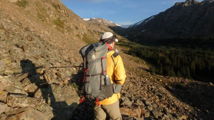 Andrew Skurka leads the way while hiking in Colorado