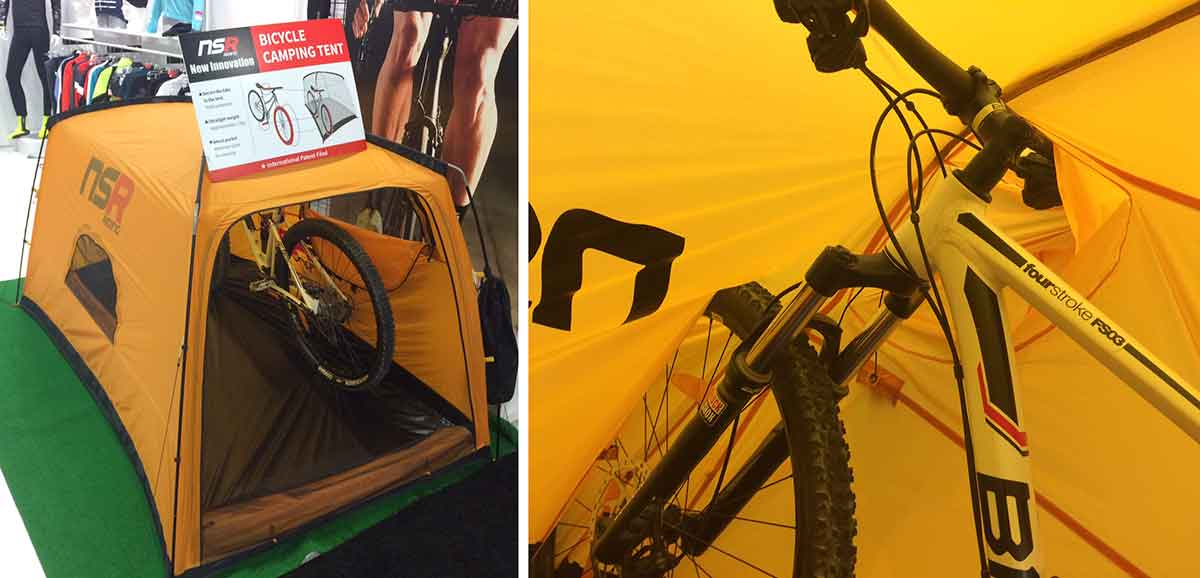 nsr-riding-bicycle-c&ing-tent & Interbike: Trade Show Unveils Future Bike Gear