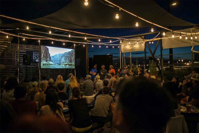 Outdoor film venue