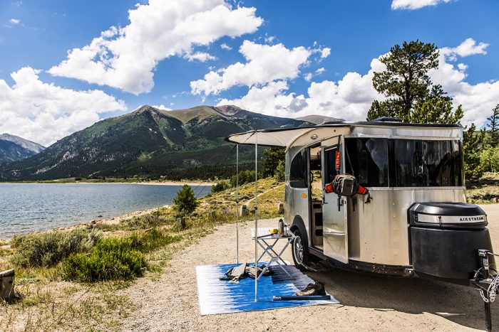 airstream basecamp at lake