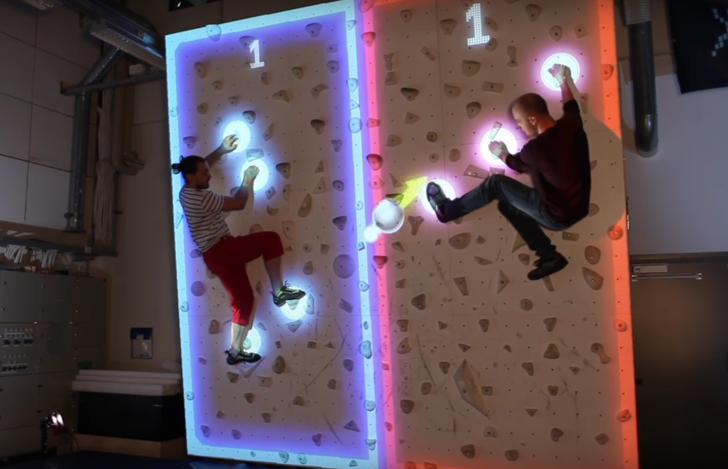 Try Augmented Reality Climbing Wall For Goofy Fun