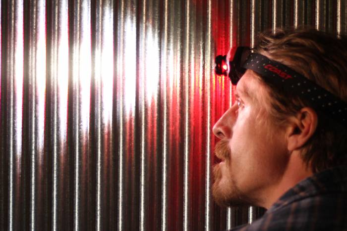 coast headlamp in use