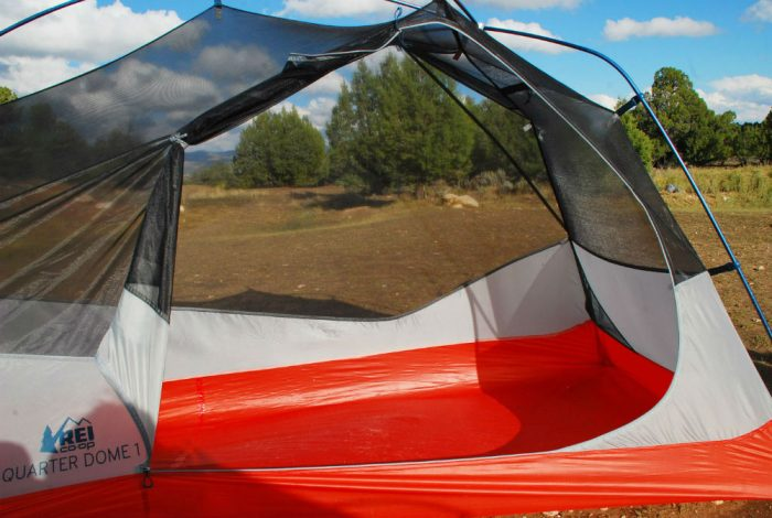 The greater area inside the tent also allowed for a larger door. Again at 6u00273u2033 this was a noticeable improvement in comfort getting into and out of the ... & First Look: REI Upgrades u0027Quarter Domeu0027 Tent For 2017