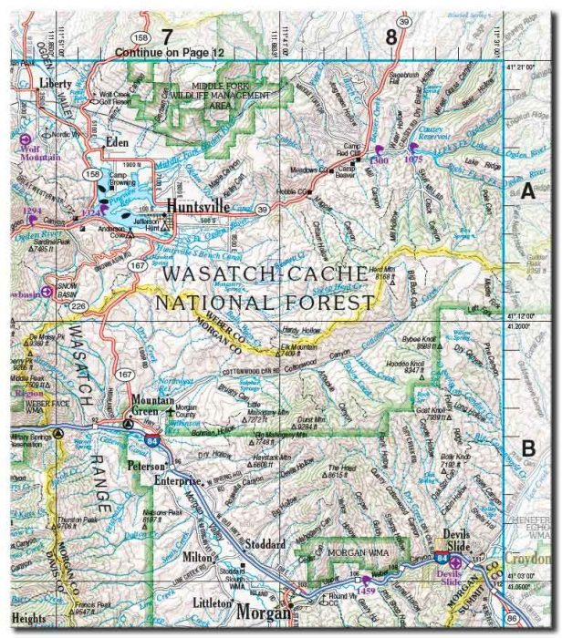 wasatch map