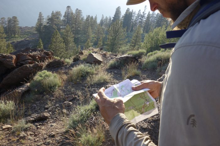 using maps on the pacific crest trail