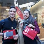 Winners with their GearDrop prizes