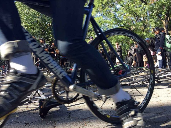 Racers gather at the Lock Foot Posi alleycat