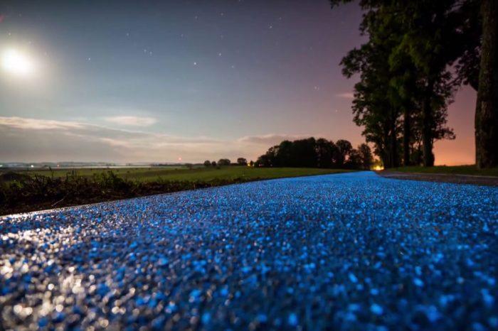 closeup-paint-glow-in-dark-bike-path