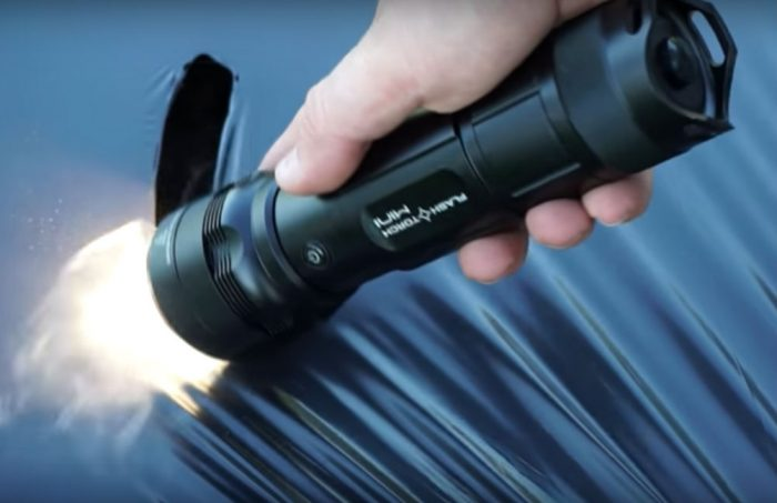 At full power, the Flash Torch Mini burns hot enough to instantly melt plastic. Charming!
