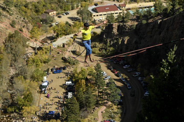 highline in Eldorado Canyon