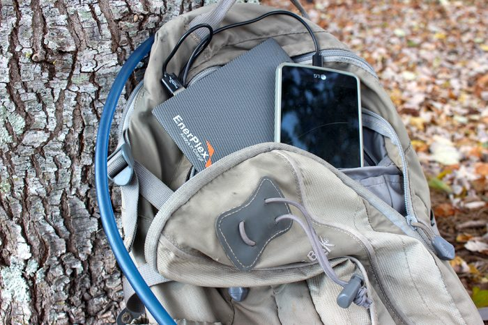 EnerPlex Slate 10 Charger in Backpack