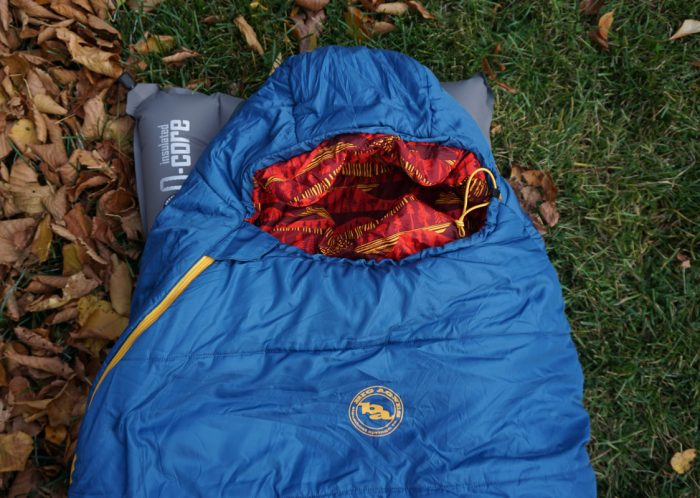 Big Agnes Haybro Sleeping Bag on QCore Sleeping Pad