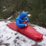 Brooks-Range Mountaineering Elephant Foot Sleeping Bag on Snow