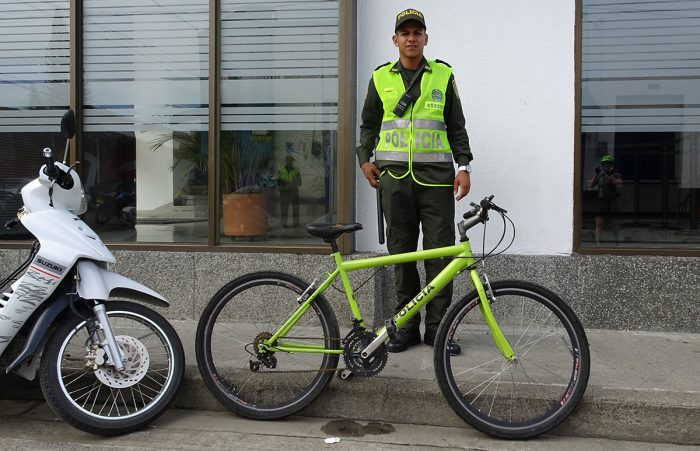 Colombian bike police officer