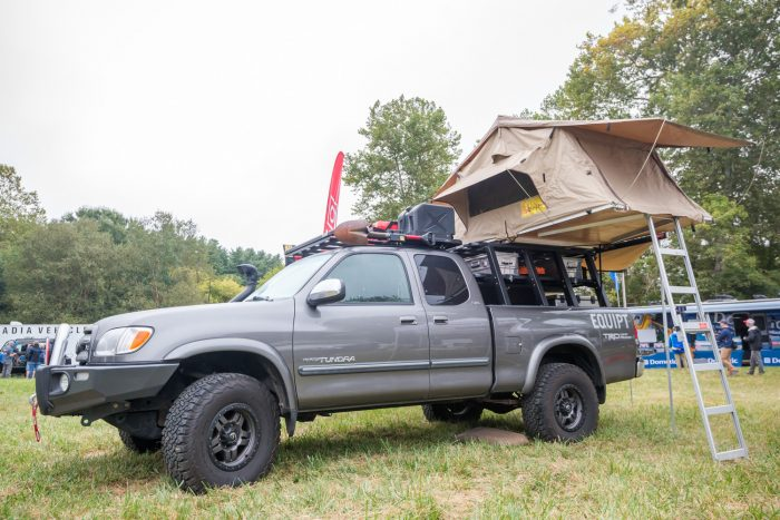 rooftop tent on pickup