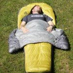 Laying in Backcountry Bed Elite Sleeping Bag