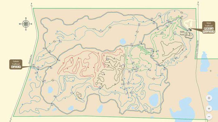 Map: Lebanon Hills mountain biking trails