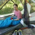 REI Trail Pod Sleeping Bag In Tent