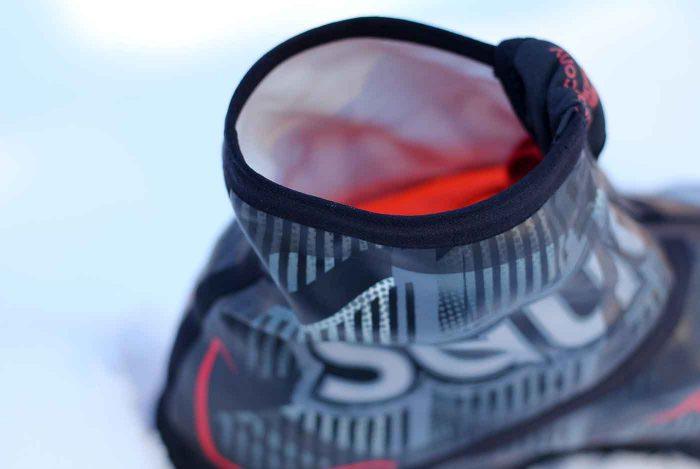 Gaiter on Saucony Razor Ice + Running Shoes