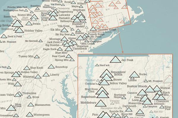 Mapped: Ski Areas Of North America | GearJunkie on new york state ski areas, ny hiking trails map, poconos ski resort map, new england ski areas map, bretton woods ski resort map, blue knob ski resort trail map, new england ski resorts map, mammoth ski resort map, lake placid ski resort map, old forge ny snowmobile trail map, india ski resorts map, lookout ski resort idaho map, new york ave dc, beech mountain ski resort map, park city trail map, spring mountain ski resort trail map, new york resorts and lodges, sunrise ski resort map, new york state skiing, new jersey ski resorts map,