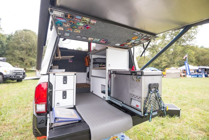 Pickup Topper Becomes Livable Pop Top Habitat
