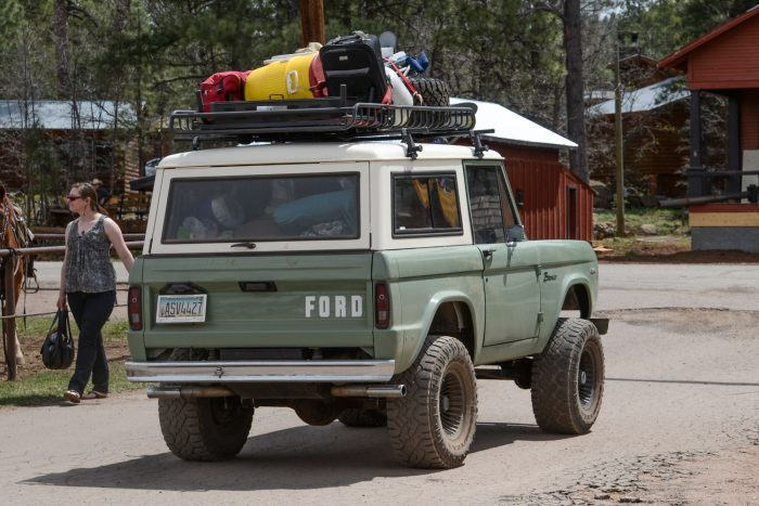 Overloaded Roof Rack On Overland Vehicle