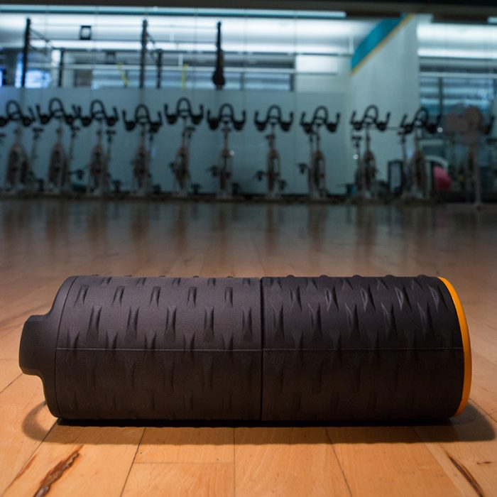 heated foam roller in gym