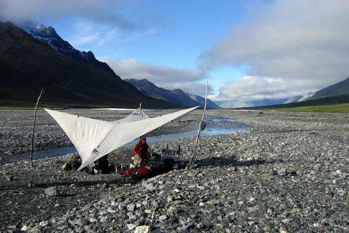 Camping along river