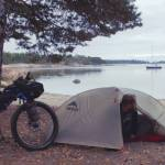 camping-by-lake-bike-packing
