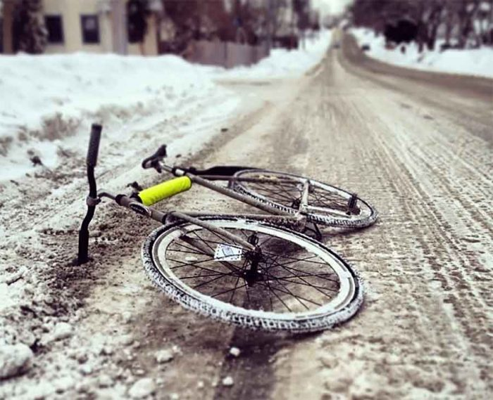 Rutted, icy roads in Minneapolis