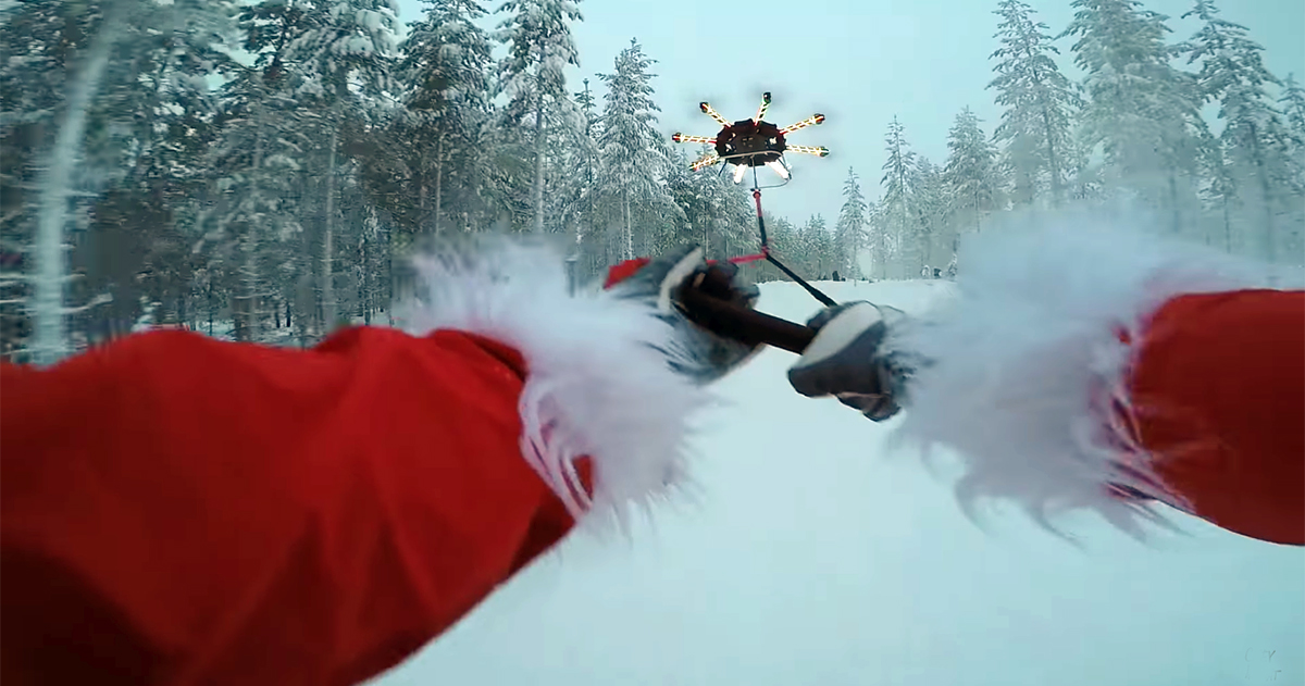 So Much For Reindeer Santa Uses A Drone Gearjunkie