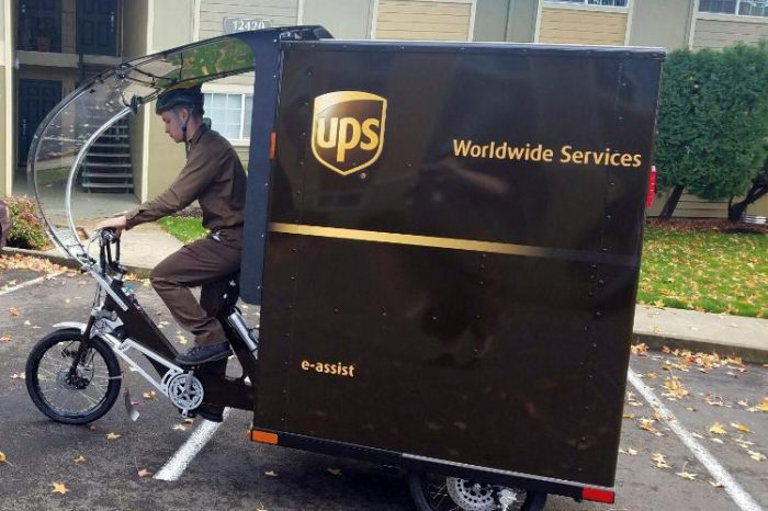 UPS bike delivery