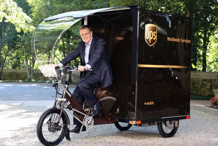 UPS eBike - UPS Chairman and CEO David Abney