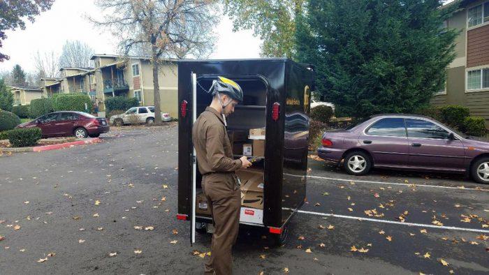 UPS e-bike courier