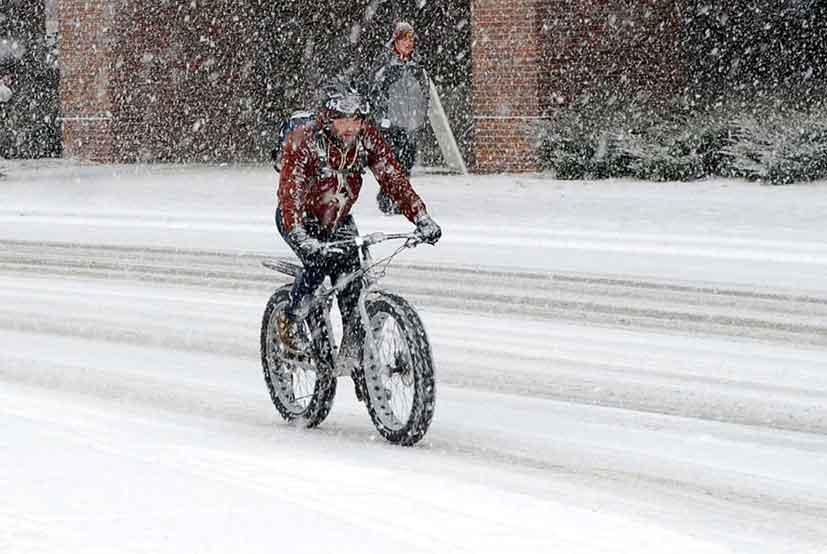 fat bike winter biking