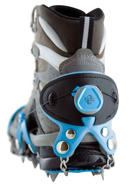 BOA twist-to-tighten closure on heel of yaktrax summit