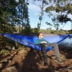 ENO TechNest Hammock Lounging By Lake